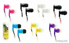 FLAT CABLE EARPHONES WIRED HANDS-FREE HEADSET WITH MIC EARBUDS 3.5mm HEADPHONES