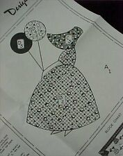Vintage Quilt Quilting Sewing Fabric Pattern SunBonnet Sue Lady Balloon Applique