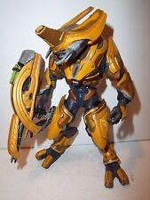RARE Halo Reach **GOLD ELITE GENERAL** McFarlane 100% Complete w Fuel Rod Cannon