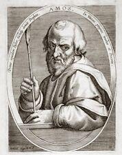 CORNELIUS GALLE: DER PROPHET AMOS ORIGINAL-KUPFERSTICH 1600 STRADANUS (HOLLST.4)