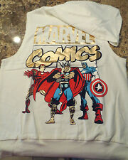 Marvel Comics Women's Hooded Sleveless Top- NEW- Size Large- Free Shipping