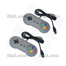 2pcs Super Nintendo SNES USB Controller Game Pad for PC Raspberry Pi 3 Retropie