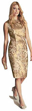 MONSOON Limited Edition Collection Gold Lourdes Dress BNWT