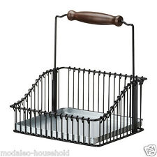 IKEA FINTORP Black Kitchen Wire Basket with Handle-Hang Use Freestanding pup10