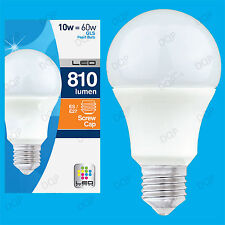 8x 10W LED Ultra Low Energy Instant On Pearl GLS Globe Light Bulb ES E27 Lamp
