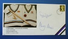1994 YORKSHIRE CCC v NOTTS CCC COVER SIGNED BY TIM ROBINSON & MARTIN MOXON.