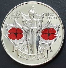 CANADA 2010 CANADIAN QUARTER 25 Cents World War 2 Remembrance Day Poppy COIN.
