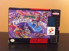 PRE-OWNED SNES TMNT TURTLES IN TIME IV VIDEO GAME COMPLETE WITH BOX AND MANUAL
