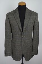 TWEED CHRISTIAN BERG Mens Blazer Jacket Size 40R Grey Wool gr. 50 Elbow patches