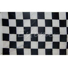 New 90cm*150cm Black White Nascar Flag Checkered Racing Banner