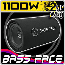 "Bass Face BASS10.1 10"" Inch 20cm 1100w Car Subwoofer & Bass Box Tube Enclosure"