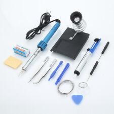 14in1 Electric Rework Solder Soldering Tools Kit Set w/ Desolder Pump 60W 110V