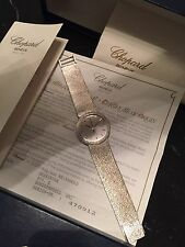 Beautiful Chopard Special Edition Full 18K Weissgold Watch Uhr 9000Eur Neupreis
