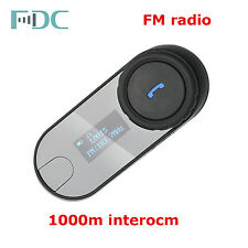 2X TCOM-SC FM 1Km Casco De La Moto Bluetooth Intercomunicador con/LCD+ J66