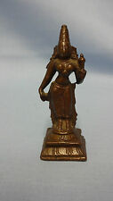 Antique Detailed Cast Bronze Hindu Figure Of A God / Deity 7.5cm