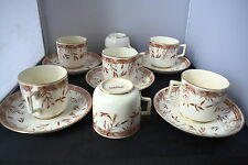 ANTIQUE WEDGWOOD BENTLEY SWALLOW CUPS & SAUCERS / W & B 68450