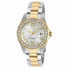 Invicta Woman Gold Silver Watch Donna Mujer Reloj Bracelet Hand Crystal Pulsera