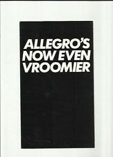 AUSTIN MORRIS ALLEGRO 1750 EQUIPE LIMITED EDITION SALES BROCHURE 1979