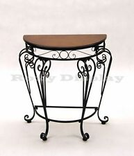 Display Table with Metal Legs and Stretchers Cherry Color Wood Top #TY-XY09-1097