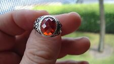 Gorgeous Ruby Special Design Men's Ring In Sterling Silver Size 9