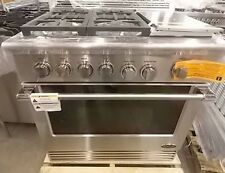 "NEW OUT OF BOX DCS GAS 36"" STAINLESS 4 BURNER + GRILL RANGE W/FACTORY WARRANTY"