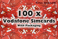 100x Vodafone Pay As You Go 3g Sim Card Nuevo Vodafone voda a granel venta al por mayor joblot