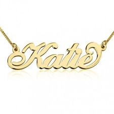 Name Necklace 24K Gold Plated  - Customize it with any name/word