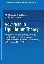 Advances in Equilibrium Theory: Proceedings of the Conference on General Equilib