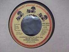 45-GEORGE HARRISON LEARNING HOW TO LOVE YOU / CRACKERBOX PALACE