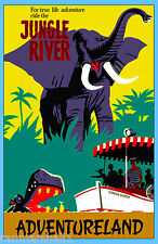 Anaheim California Disney Jungle Ride United States Travel Advertisement Poster
