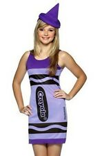 Teen Tween Sky Blue Crayola Crayon Tank Dress Costume - Teen Size 13-16 - Fast -