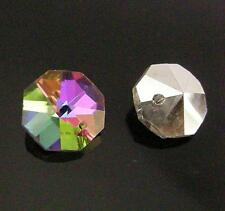 sale-6pc Imitate swarovski crystal Faceted Octagon glass beads-1486