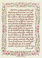 DEATH IS NOTHING AT ALL - CALLIGRAPHY SYMPATHY CARD FOR BEREAVEMENT