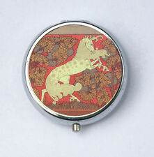 Art Nouveau Horse Pill case pillbox pill holder design Pattern