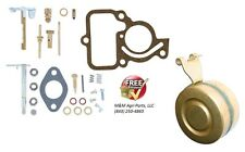 COMPLETE CARBURETOR REBUILD KIT & FLOAT IH FARMALL CUB, LO BOY 154 TRACTOR CARB