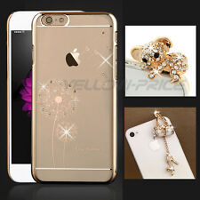 Luxury Bling Case Hard Girls Women Gift iPhone 6 6S + Cute 3.5mm Anti Dust Cap