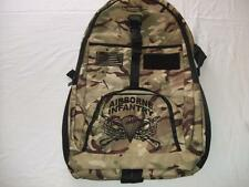 US AIRBORNE INFANTRY MEDIUM BACKPACK DAY PACK BOOK COMPUTER BAG CAMO EMBROIDERED