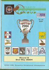 #UU.  NEWCASTLE RUGBY LEAGUE PROGRAM ROUND 8, 2nd May  2004