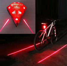 Waterproof Rechargeable Diamond Laser Tail Rear Bike Bicycle LED Light Taillight