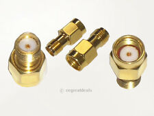 Pair SMA Female to RP-SMA Male Jack Plug RF / Antenna Adapter Connector (NO PIN)