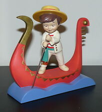 WDCC IT'S A SMALL WORLD AFTER ALL SERENATA ITALY WALT DISNEY LE FIGURINE NEW