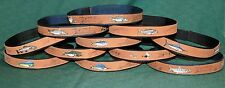 Custom Made New Leather Fishing Style Hat Bands One Size,Trout, Dry Flies