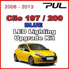 Renault Sport Clio 197 200 Led Interior, alumbrado lateral Upgrade Kit Smd-Azul