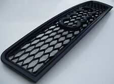 New black honeycomb mesh car grill compatible with Audi A4 B6 2002-2005