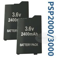 2X Rechargeable Battery FOR PSP 3000 3.6v Volt  2400 mAh Extended long Life