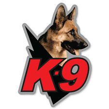 "K9 unit police guard dog car bumper sticker 3"" x 5"""