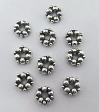 20 Pieces 925 Sterling Silver Spacer Bali Beads Granulation worked 4.5mm Round