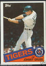TOPPS 1985 carte de baseball-no 643-JOHNNY Grubb-tigres de Detroit