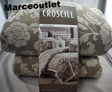 Croscill Home Anessa 3 Piece QUEEN Comforter Set Latte