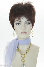 Arty, Youthful and Chic!  Short, Straight, edgy, Tapered Cut Blonde Red Wigs